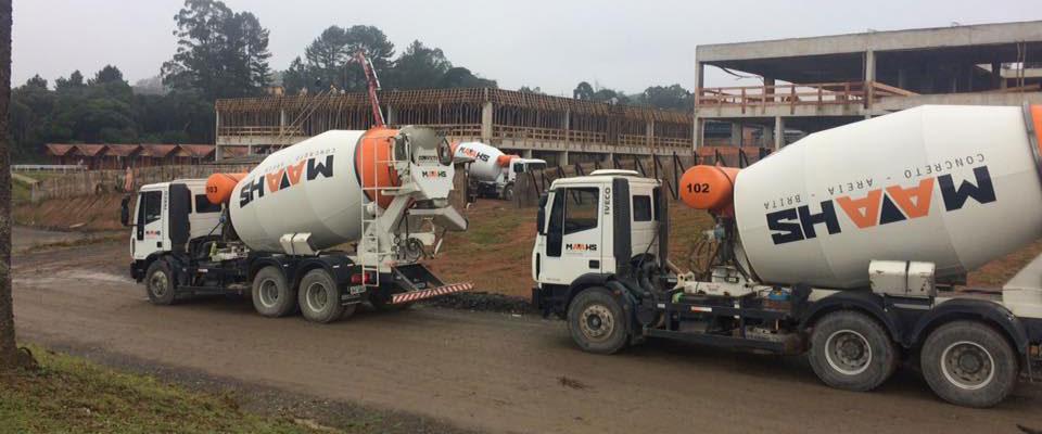 como receber o concreto na obra